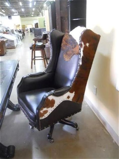 Cowhide Office Chair - classic with a twist cowhide inside