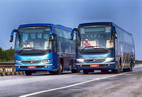 volvo buses unveils   coach range  busworld  bengaluru