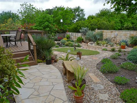 xeriscaped backyard design april 2013 central texas gardening