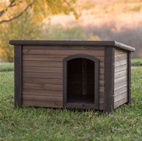 Cabin Kennel by Log Cabin House Weather Resistant Wood Large Outdoor