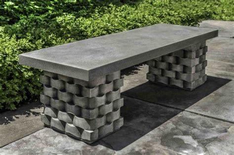 weave bench campania international concrete garden