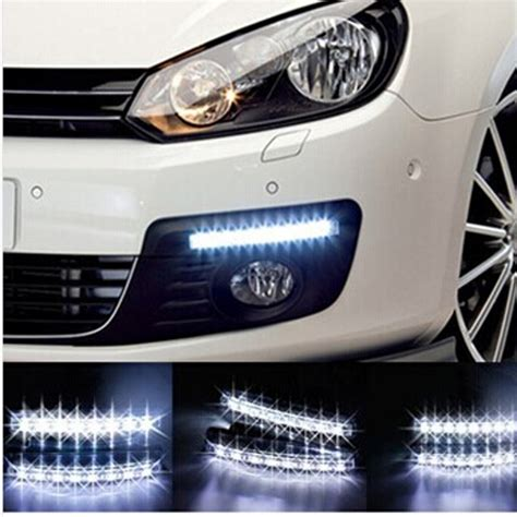 led lights for cars 2pcs lot super white 8 led daytime running lights drl