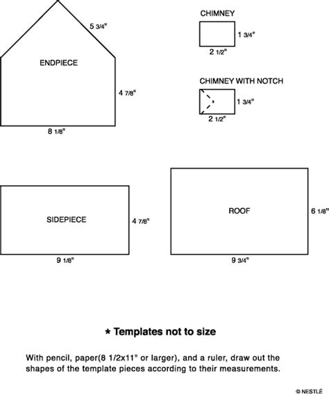 gingerbread house chimney template printable nestle gingerbread templates this is the template i m