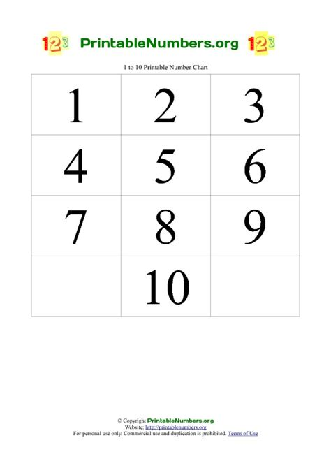 printable numbers to 10 image gallery number chart 0 10