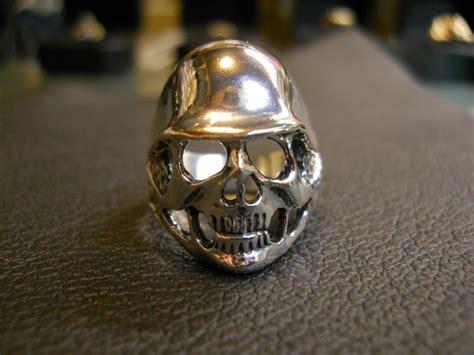 Skull Ring Helmet german helmet skull ring 183 maddog silver 183 store powered by storenvy