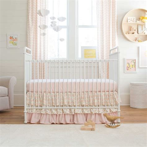 girls chevron bedding pale pink and gold chevron 2 piece crib bedding set gold