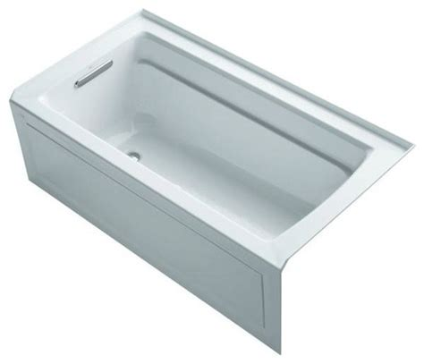 kohler bathtubs archer 5 ft whirlpool tub in white k 1122