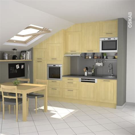 plan decor cuisine en bois porte contemporaine betula bouleau