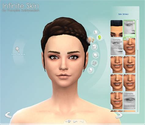 mod the sims sims 4 skins infinite skin by vire aninyosaloh at mod the sims