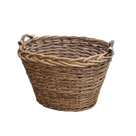 Fireplace Log Baskets by Ambleside Oval Brown Wicker Log Storage Basket Fireplace