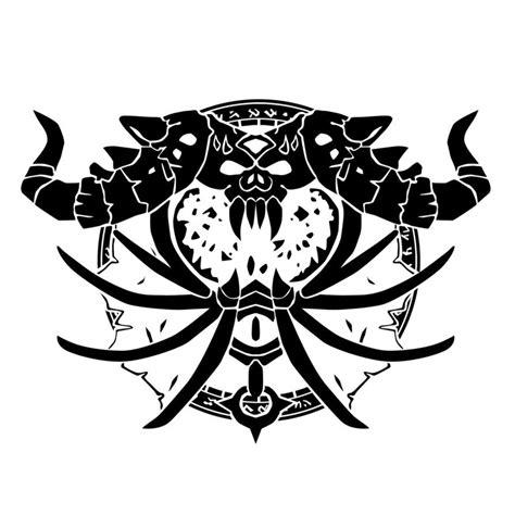 warlock tattoos crest warlock crest by ropa to on deviantart crest