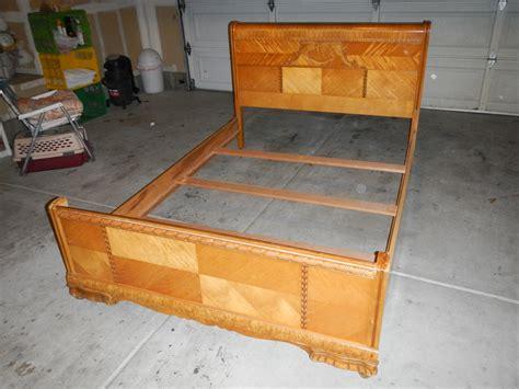 art deco bedroom set for sale 1947 birch art deco waterfall bedroom set for sale