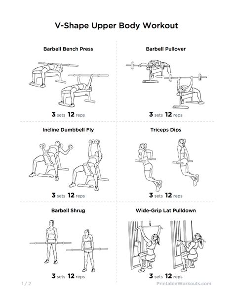 v shape workout plan for chest shoulders
