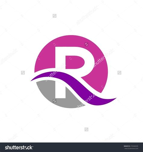 letter layout with logo letter r logo formal letter template