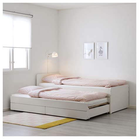 futon 90x200 sl 196 kt bed frame with underbed and storage white 90x200 cm