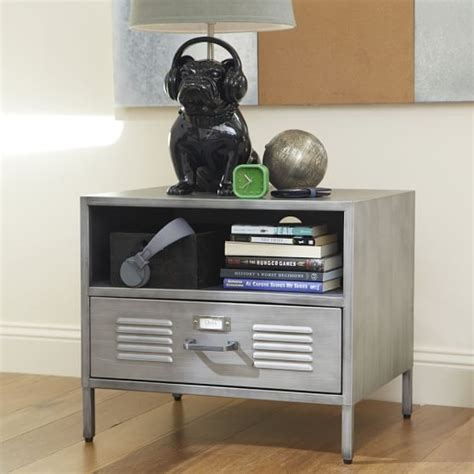 locker style bedroom furniture locker bedside table pbteen