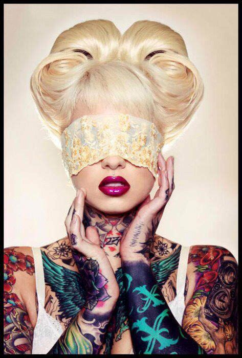 woman covered in tattoos 75 best blindfold images on