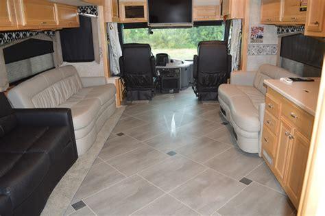 tile floors rv renovations  classic coach works