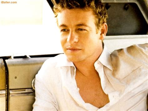 blond hair actor in the mentalist simon baker tv series entertainment background