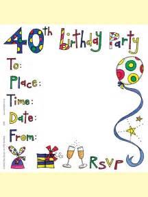 ss83 40th birthday invitation social stationery