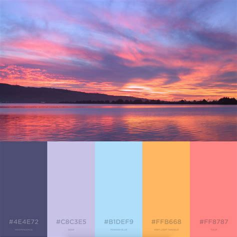 sunset color scheme 7 branding color palettes inspired by summer