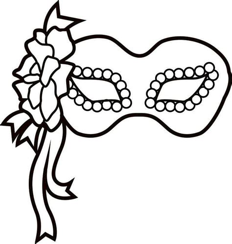 free coloring pages of carnival mask template