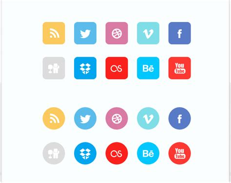 free sosial network icon gallery for gt social network icons flat