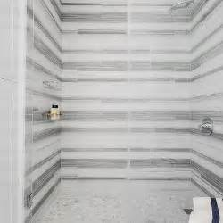 white and gray striped marble shower tiles design decor