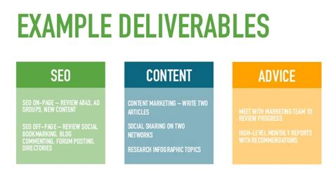 marketing deliverables template gallery of marketing deliverables template choice image
