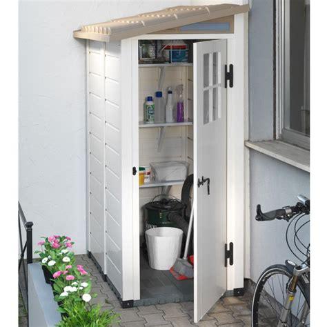 petit abri de jardin r 233 sine pvc adossable 1 m 178 ep 22 mm