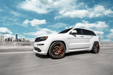 jeep wheels white white jeep srt8 velgen wheels vmb5 satin bronze