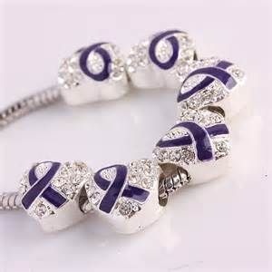 Crystal Enamel Ribbons Cancer Awareness Heart Loose Beads Fit EP Charms Bracelet   eBay