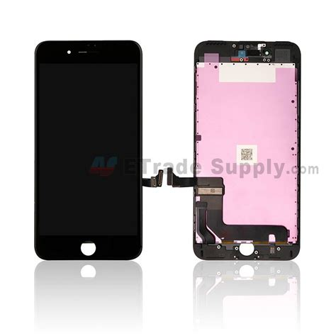 iphone 7 plus lcd screen and digitizer assembly with frame black etrade supply