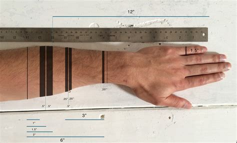 ruler tattoo a functional concept that turns arm into a ruler