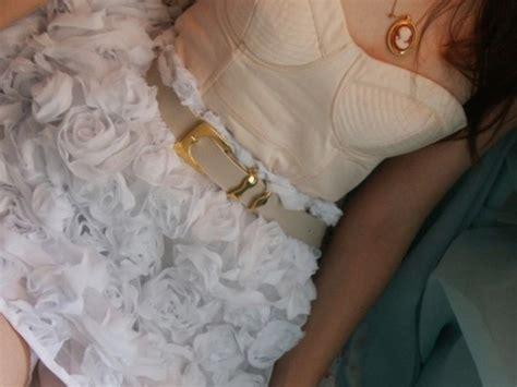 skirt pretty roses flowers white girly soft