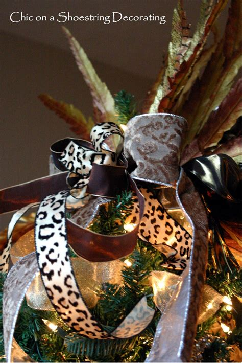 chic on a shoestring decorating my fancy christmas tree