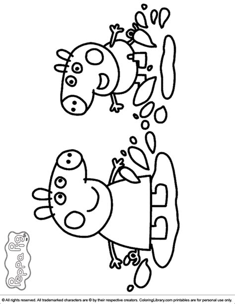 free coloring page peppa pig peppa pig coloring pages coloring home