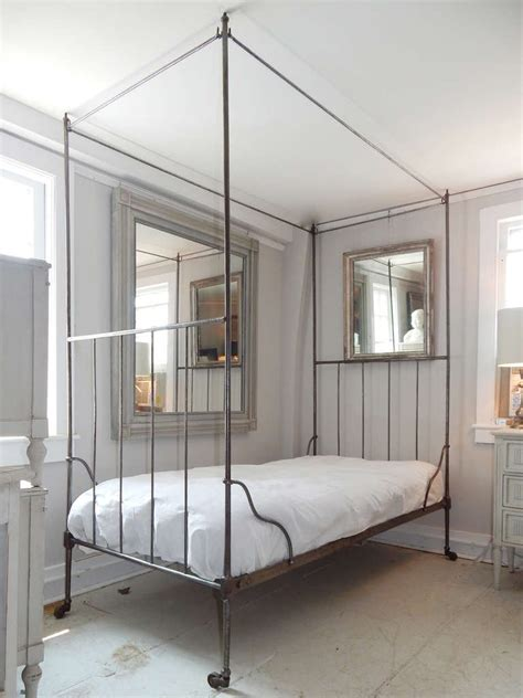 iron canopy beds french iron canopy bed at 1stdibs