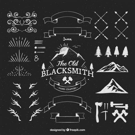 How Can We Decorate Our Home by Hipster Logos Ornaments Vector Free Download