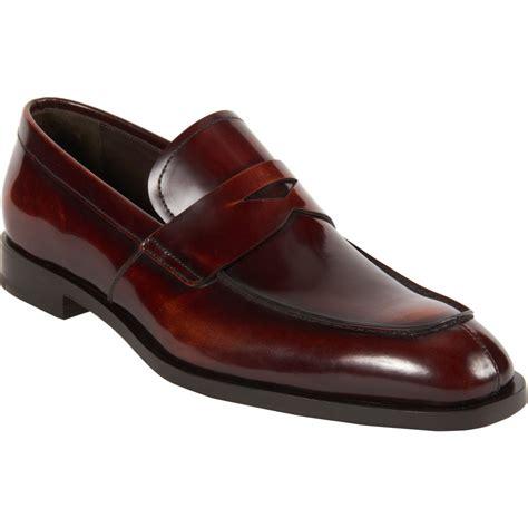 split toe loafer prada brown split toe loafer for lyst