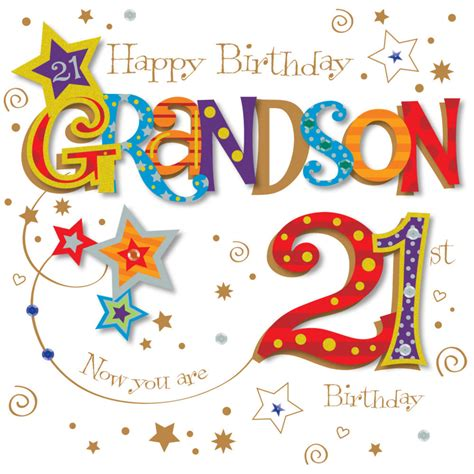 Grandson Birthday Wishes Greeting Cards Grandson 21st Birthday Greeting Card Cards Love Kates