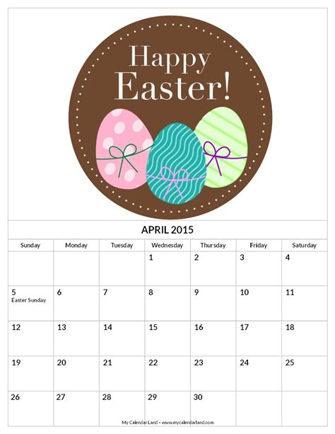 Calendar 2015 April Easter Easter 2015 April Gallery