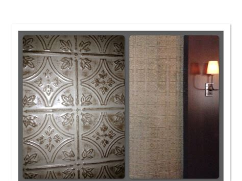 faux tin tile walls in restaurant dining room