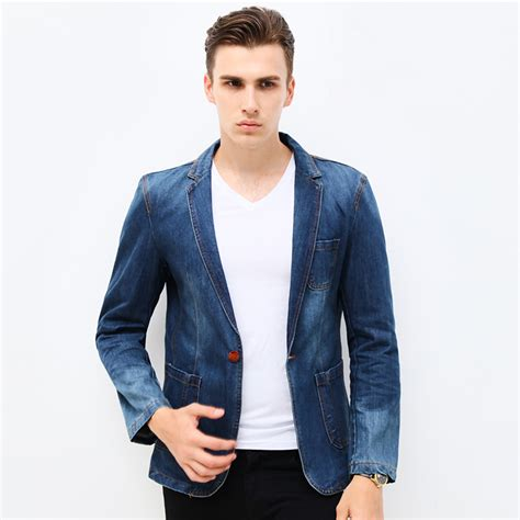 Denim Jn 2017 new fashion brand blazer trend suits casual suit jean jacket