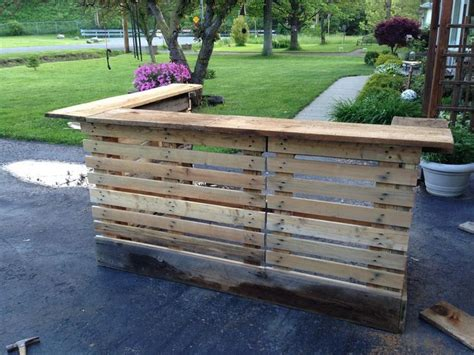 diy outdoor bar stools diy pallet outdoor bar and stools the owner builder