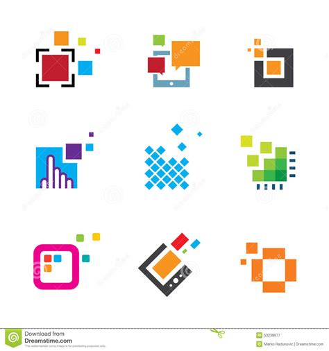 design service icon vector just be creative abstract colorful design geometric logo