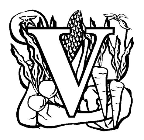 free coloring pages of letter v