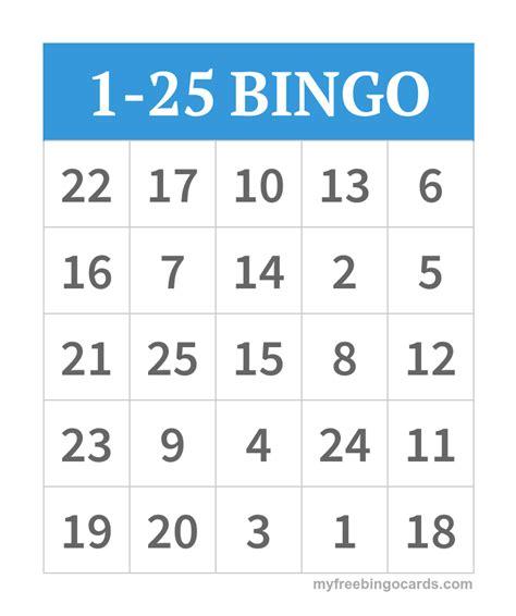 free printable christmas bingo cards with numbers 1 25 bingo