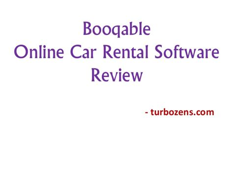 Booqable Online Car Rental Software Review