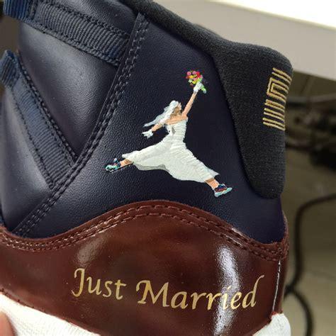 custom air jordan sneakers wedding   Sole Collector
